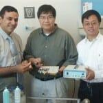 A LIPUS technológiát kifejlesztő, kanadai egyetemen dolgozó hármas (balról): Dr. Tarak El-Bialy, Ying Tsui és Dr. Jie Chen
