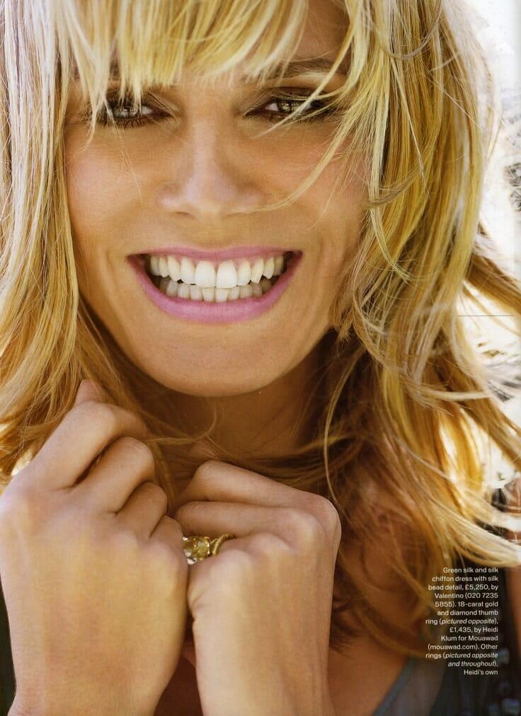 Heidi Klum gyönyörű mosolya a divatvilágot is meghódította. (Kép: Pinterest)