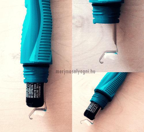 Az Oral-B Pulsar fogkefe elemcseréjét követően ekkora rés tátongott az elem és az érzékelő között, így a fogkefe már nem kapcsolt be többet.