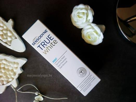 kiprobaltuk sensodyne true white fogkrem